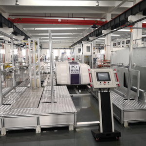 China RGV Trolley PLC Control MV Switchgear Cabinet Assembly Line